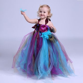 fa02dad1f 2017 Summer Tulle Flower Girl Dresses Baby Kids Party Pageant Dr