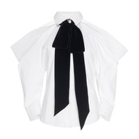 Cold-Shoulder Bow Shirt | Moda Operandi