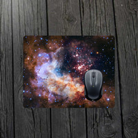 Nebula mouse pad Space mouse pad Galaxy mouse pad Pillars of creation Nasa picture Space gift  Star mouse pad Science mouse pad