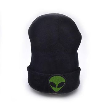 New Year Gift Alien Winter Hat 2016 Knit Hats For Women And Men Casual Embroidery Cotton Hat Winter skullies beanies caps