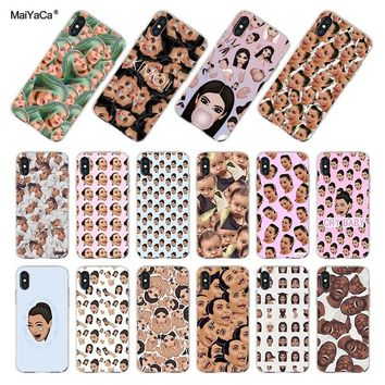 MaiYaCa For iphone 7 6 X XR XS MAX Kimoji Kim Kardashian kanye west north kylie jenner Phone Case for iPhone 8 7 6S Plus XS XR