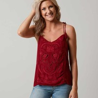 LUCKY BRAND CUT-OUT TANK TOP