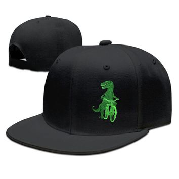 DINOSAUR On Bicycle Breathable Unisex Adult Womens Hip-hop Cap Mens Baseball Hats