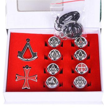 pcs  Animation  Assassins  Creed  Rings  Metal  Cospla