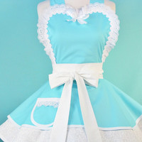 Sweet Cupcake Sunday Frilly Apron by Dots Diner