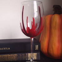 Halloween wine glass creepy wine glass