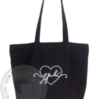 Gamma Phi Beta Heart Tote - Adam Block Design