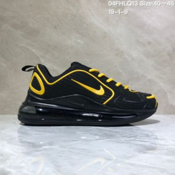 DCCK N961 Nike Air Max 720 Nano - drop molded version of cushioned running shoes Black Yellow