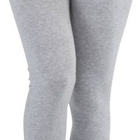 ToBeInStyle Women's Full Length Cotton Leggings - Heather Grey - M