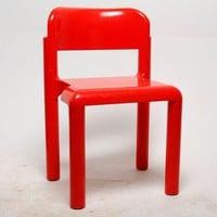 Mod Pop Orange Plastic Stacking Chair By Eero Aarnio For Upo Finland