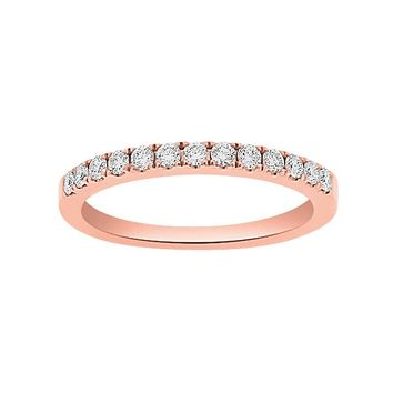 1/3ct tw Diamond Wedding Ring in 14K Rose Gold - Jewelry & Gifts