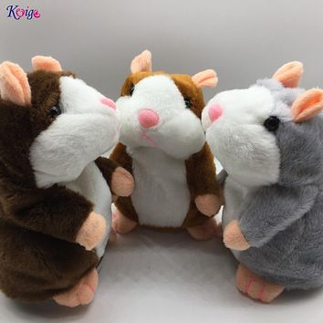 KEYIGE Talking Hamster Repeats What You Say Plush Animal Toy Electronic Hamster Mouse Pet for Kids Birthday Child Christmas Gift