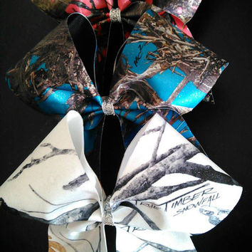 Camo Cheer Bow -  Glitter True Timber Print