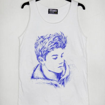 Justin Bieber Skets Cartoon Casual Wear Sporty Cool Tank top Funny Tank Cute Direct to garment