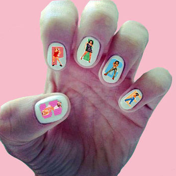 Spice Girls / 90s Music / Girl Power / Girl Group / UK Nail Decals