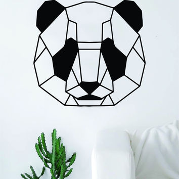Panda Geometric Line Bear Animal Design Decal Sticker Wall Vinyl Decor Art Living Room Bedroom China Chinese