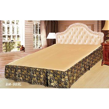 Tache Golden Roses Bed Skirt (BSK-989L)