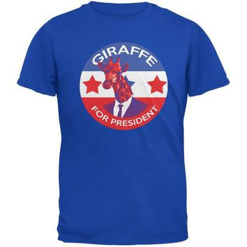 CREYCY8 Election 2016 Giraffe For President Royal Adult T-Shirt