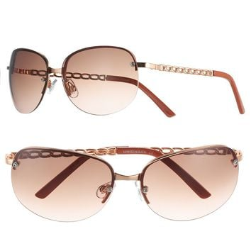 Unionbay Curb-Chain Women's Semirimless Sunglasses