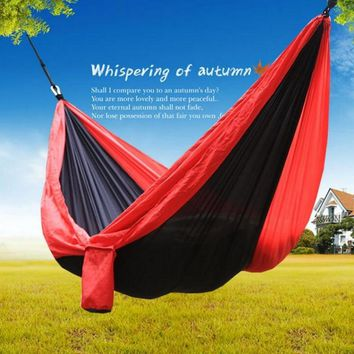 Parachute cloth material tree tents. Camping hammocks, ultra-light and quality comfortable camping, hiking, easy to carry.