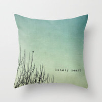 lonely heart Throw Pillow by ingz | Society6
