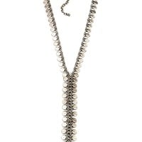Natalie B. Sea Drops Lariat Necklace in Silver | Boutique To You
