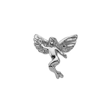 Winged Angel Pin Brooch 925 Sterling Silver