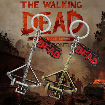 The Walking Dead Keychain Crossbow Bow and Arrow Key Chain Vintag Zombie Fight The Dead