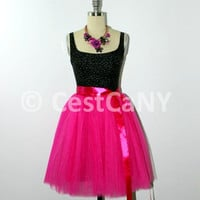 Cassie Tulle Skirt in Fuchsia / Puffy Princess Tutu in Hot Pink / Bridesmaid Wedding Skirt
