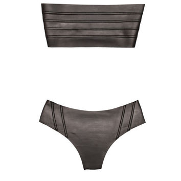Mikoh Swimwear Rincon Neoprene Bikini Set in Night