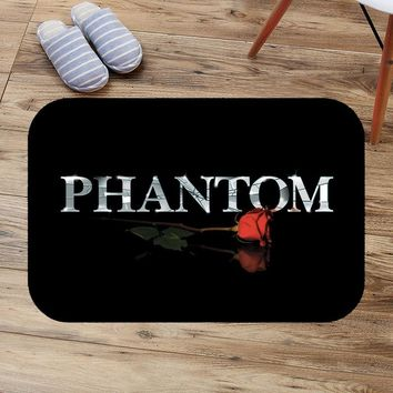 Musical The Phantom of the Opera Pattern Anti-Slip Suede Carpet Door mats Customized Doormat Outdoor Kitchen Rug