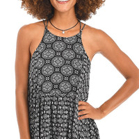 Free Flow Printed Strappy Tank Top