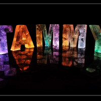 The Name Tammy in 3D coloured lights