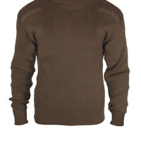 Brown G.I. Style Acrylic Commando Sweater