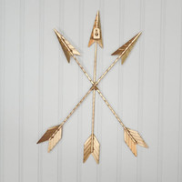 Gold Arrow Wall Hanging/Wall Decor/Bohemian Decor/Arrow/Tribal/Boho/SSLID0169/Arrow Art/Native American/Trendy/Western/Girls Room/Gallery