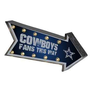 Dallas Cowboys Sign Marquee Style Light Up Arrow Design