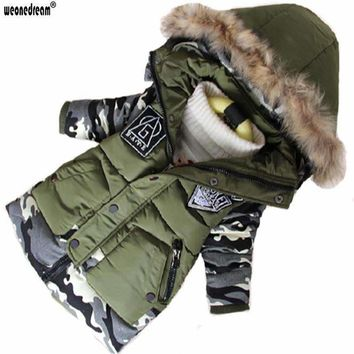 Boys Fur trimmed Hooded Parka Winter Jacket