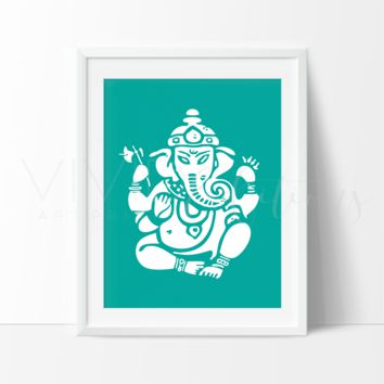 Ganesha, Blue Green