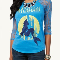 Ariel Lace Raglan Top | Graphic Tees | rue21