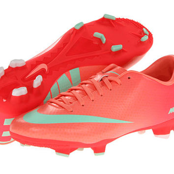 Nike Mercurial Victory IV FG Atomic Pink/Atomic Red/White/Arctic Green - Zappos.com Free Shipping BOTH Ways