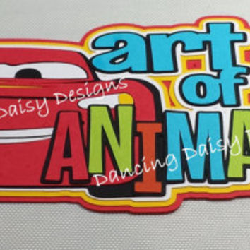 Disney Art of Animation Cars Lightning McQueen paper pieced die cut title for scrapbooking