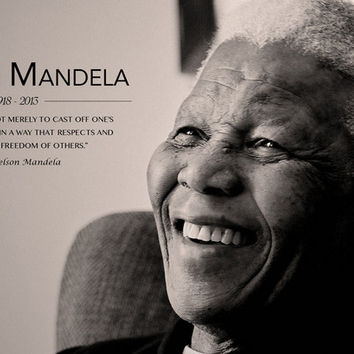 Nelson Mandela Quote Poster 11x17