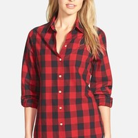 Women's Foxcroft Buffalo Check Cotton Shirt,