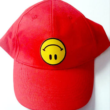 Upside Down Smiley Face Hat
