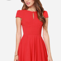 LULUS Exclusive In the Zone Red Dress