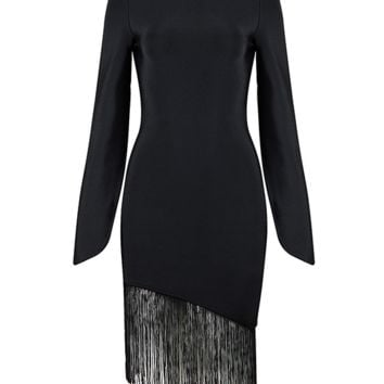 Bett Black Fringe Dress