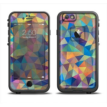 The Colorful Vibrant Triangle Connect Pattern Apple iPhone 6 LifeProof Fre Case Skin Set