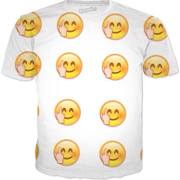 middle finger emoji t-shirt