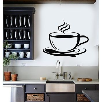 Vinyl Wall Decal Cup Coffee House Original Taste Cafe Kitchen Stickers Mural (g1798)