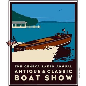 Geneva Boat Show Poster Great Art 27inx40in